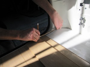 Operation Flooring How To Fit A Laminate Floor In A Tiny