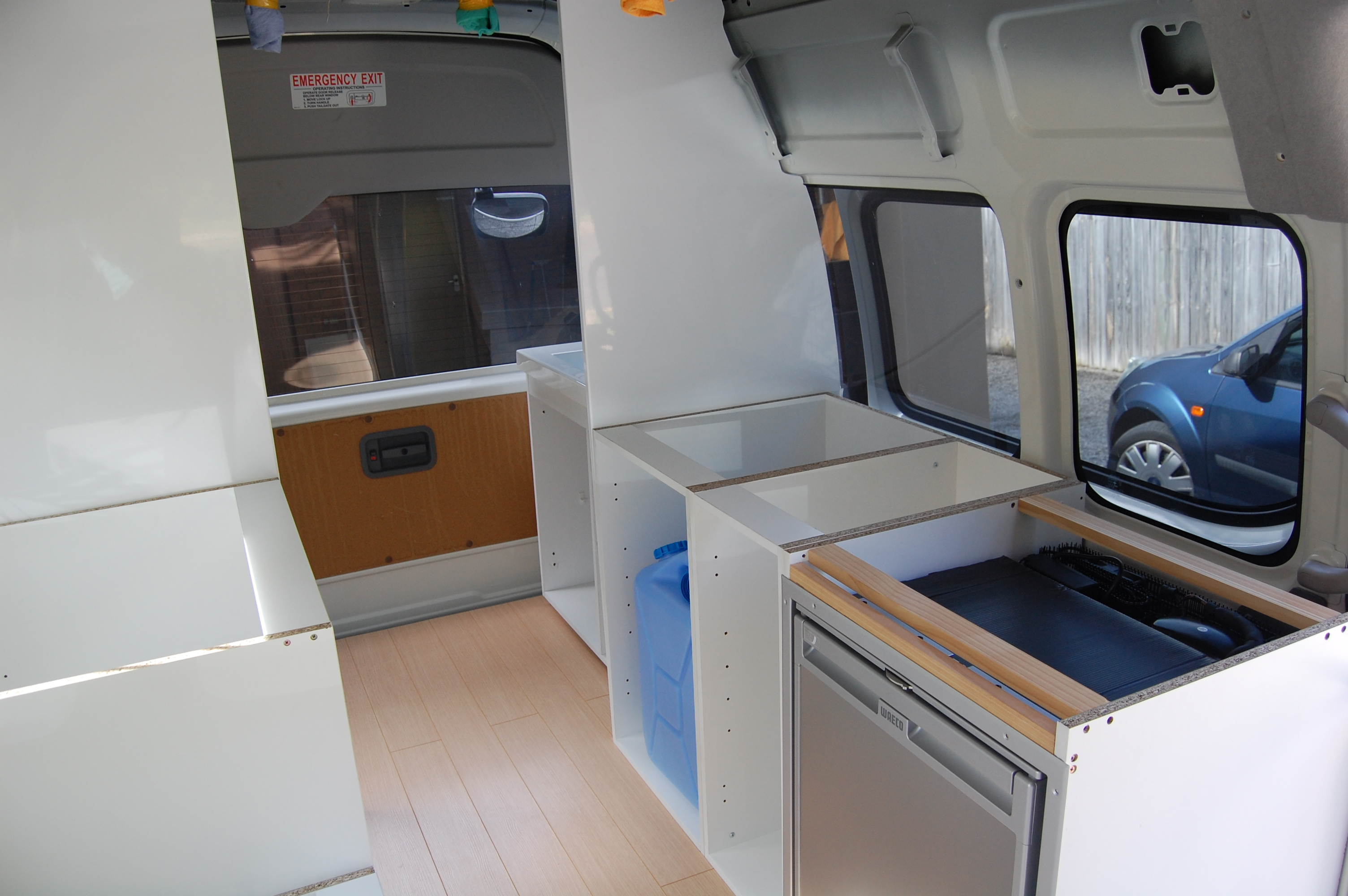 Campervan Kitchen And Cabinets