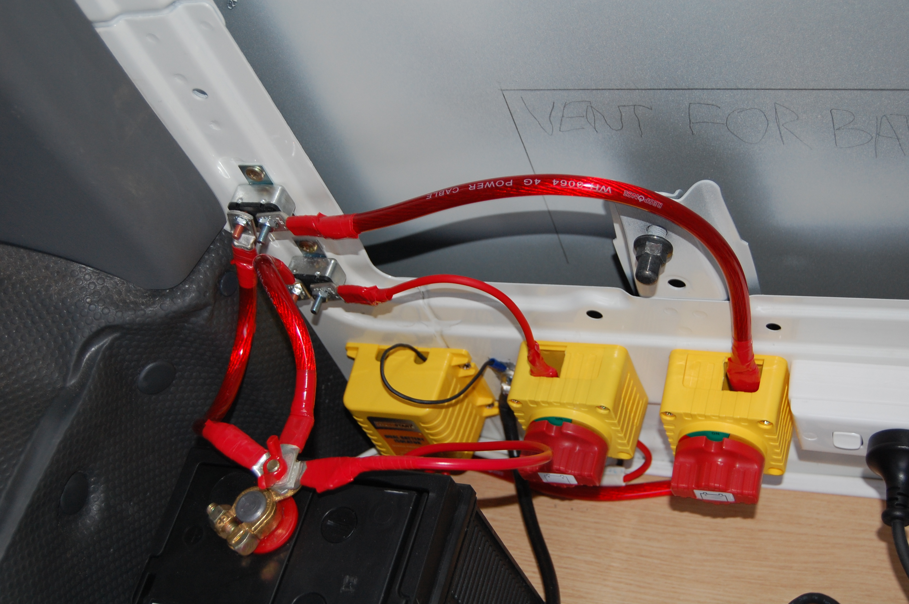Wiring A Campervan The Converts Connecting Three Lights And Supply Cable At Light Switch So
