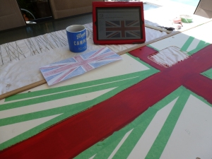 Union flag campervan