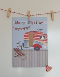 Caravan birthday card