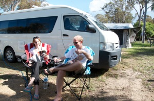 Top of the Town, Stanthorpe - happy campers