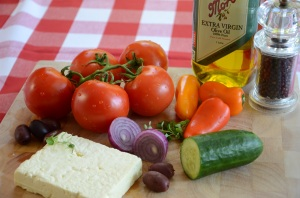 Campervan Converts - campervan food, Greek salad