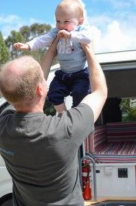 Campervan Converts - Baby in campervan
