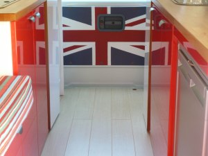 Interior - patriotic back door